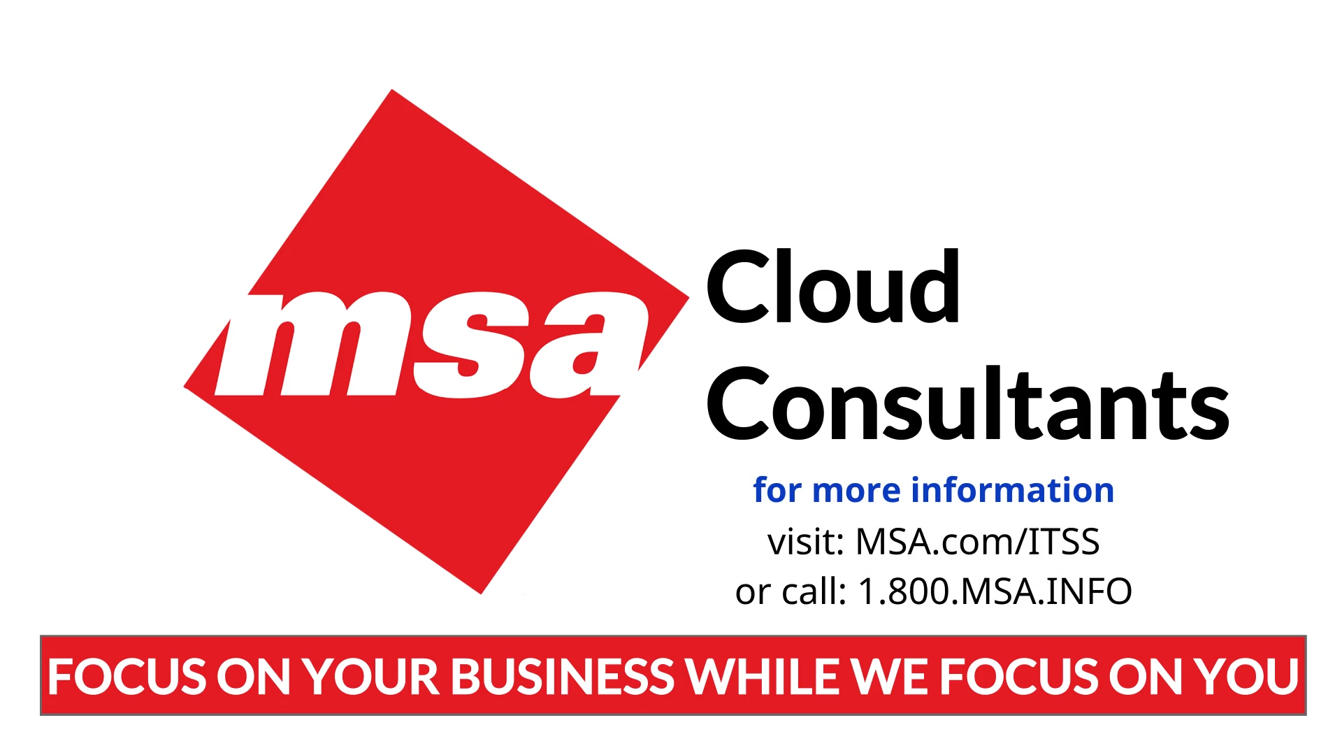Cloud Consultants Video Splash Page